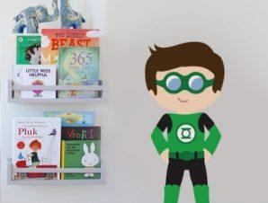 Green Boy Παιδικά Αυτοκόλλητα τοίχου 50 x 23 cm