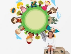 Παραμύθι Παιδικά Αυτοκόλλητα τοίχου 55 x 53 εκ.