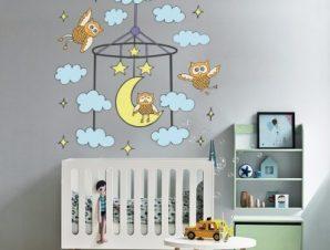 Όνειρα γλυκά συννεφάκια Παιδικά Αυτοκόλλητα τοίχου 50 x 52 εκ.