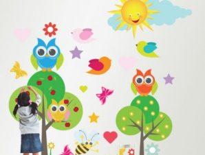 Στο Δάσος Παιδικά Αυτοκόλλητα τοίχου 94 x 90 cm