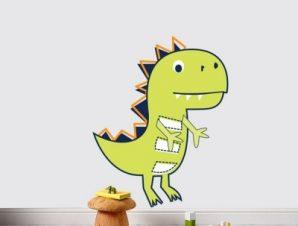 Δεινόσαυρος Παιδικά Αυτοκόλλητα τοίχου 45 x 36 cm