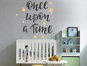 Μια φορά κι έναν καιρό Παιδικά Αυτοκόλλητα τοίχου 50 x 42 cm