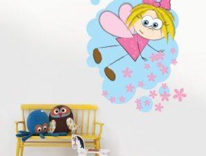 Μικρή νεράιδα Παιδικά Αυτοκόλλητα τοίχου 50 x 60 εκ.