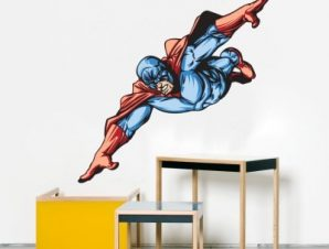 Υπερήρωας Παιδικά Αυτοκόλλητα τοίχου 60 x 60 cm