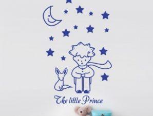 Μικρός πρίγκιπας Παιδικά Αυτοκόλλητα τοίχου 50 x 81 εκ.