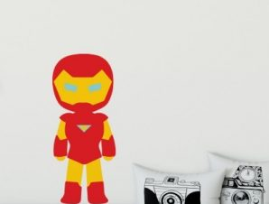 Iron Boy Παιδικά Αυτοκόλλητα τοίχου 50 x 21 cm