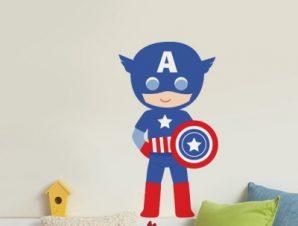 America Boy Παιδικά Αυτοκόλλητα τοίχου 50 x 28 cm