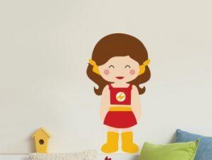 Fast Girl Παιδικά Αυτοκόλλητα τοίχου 27 x 50 εκ.