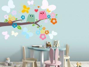 Κλαδάκι Δέντρου Παιδικά Αυτοκόλλητα τοίχου 65 x 46 εκ.
