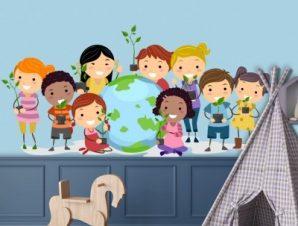 Παιδιά του κόσμου Παιδικά Αυτοκόλλητα τοίχου 31 x 65 cm