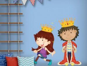 Μικροί βασιλιάδες Παιδικά Αυτοκόλλητα τοίχου 40 x 40 εκ.