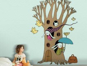 Μαγικό Δέντρο Παιδικά Αυτοκόλλητα τοίχου 60 x 84 εκ.