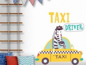 Taxi driver Παιδικά Αυτοκόλλητα τοίχου 45 x 45 εκ.