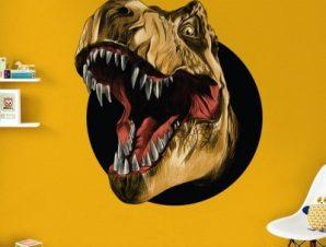 Άγριος δεινόσαυρος Παιδικά Αυτοκόλλητα τοίχου 45 x 45 εκ.