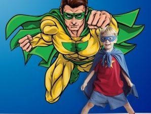 Σούπερ ήρωας Παιδικά Αυτοκόλλητα τοίχου 53 x 65 cm