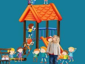 Παιδική Χαρά Παιδικά Αυτοκόλλητα τοίχου 48 x 45 cm