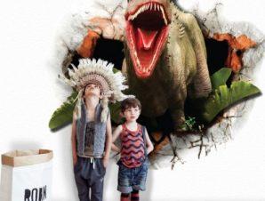 Μεγάλος Δεινόσαυρος Παιδικά Αυτοκόλλητα τοίχου 45 x 45 cm