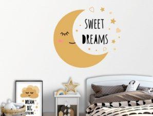 Sweet dreams Παιδικά Αυτοκόλλητα τοίχου 45 x 45 εκ.