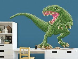 Πράσινος δεινόσαυρος Παιδικά Αυτοκόλλητα τοίχου 47 x 65 cm