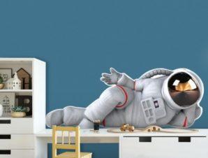 Αστροναύτης Παιδικά Αυτοκόλλητα τοίχου 24 x 65 cm