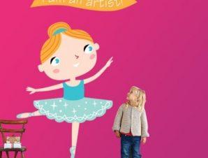 Μπαλαρίνα Παιδικά Αυτοκόλλητα τοίχου 41 x 35 cm