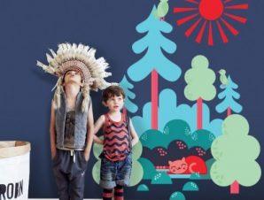 Δεντράκια Παιδικά Αυτοκόλλητα τοίχου 35 x 47 εκ.