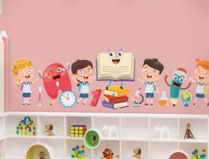 Επιστροφή στο σχολείο Παιδικά Αυτοκόλλητα τοίχου 100 x 28 εκ.