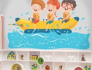 Παιχνίδι στη θάλλασα Παιδικά Αυτοκόλλητα τοίχου 70 x 44 εκ.