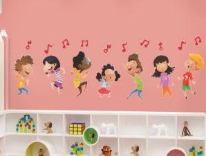 Παιδική μελωδία Παιδικά Αυτοκόλλητα τοίχου 90 x 28 εκ.