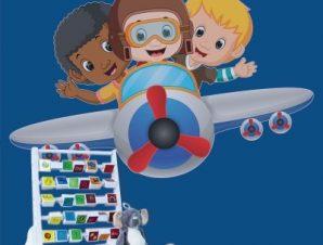 Μικροί πιλότοι Παιδικά Αυτοκόλλητα τοίχου 70 x 44 εκ.