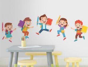 Αγάπη για το διάβασμα Παιδικά Αυτοκόλλητα τοίχου 100 x 32 εκ.