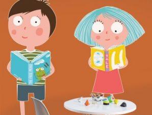 Αγαπώ τα βιβλία Παιδικά Αυτοκόλλητα τοίχου 55 x 50 εκ.