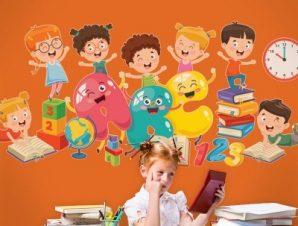 ABC.. Παιδικά Αυτοκόλλητα τοίχου 70 x 31 εκ.