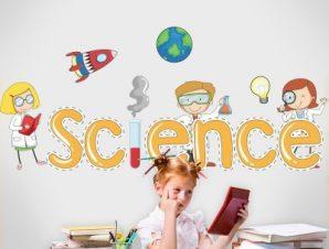 Επιστήμη Παιδικά Αυτοκόλλητα τοίχου 70 x 31 εκ.