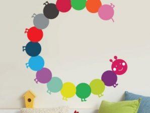 Σαρανταποδαρούσα κύκλος Παιδικά Αυτοκόλλητα τοίχου 42 x 40 cm