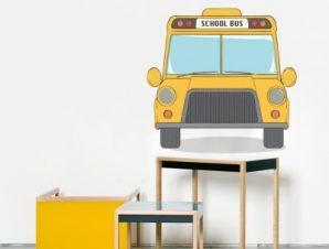 Σχολικό λεωφορείο Παιδικά Αυτοκόλλητα τοίχου 40 x 39 εκ.