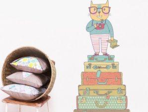 Θέλω να ταξιδέψω παντού… Παιδικά Αυτοκόλλητα τοίχου 78 x 35 cm