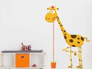 Καμηλοπάρδαλη μέτρο Παιδικά Αυτοκόλλητα τοίχου 40 x 54 εκ.