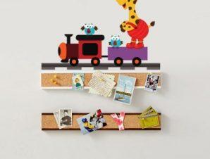 Μικρό τρενάκι Παιδικά Αυτοκόλλητα τοίχου 65 x 47 εκ.
