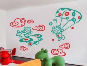 Στον αέρα… Παιδικά Αυτοκόλλητα τοίχου 74 x 119 cm