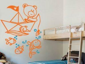 Ο βυθός της θάλασσας Παιδικά Αυτοκόλλητα τοίχου 90 x 130 εκ.