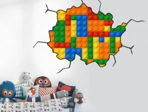 Leggo boom Παιδικά Αυτοκόλλητα τοίχου 98 x 68 εκ.