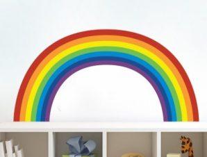 Ουράνιο Τόξο Παιδικά Αυτοκόλλητα τοίχου 54 x 120 cm