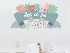 Let it be… Παιδικά Αυτοκόλλητα τοίχου 100 x 54 εκ.