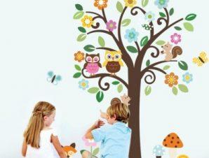 Δέντρο DIY Παιδικά Αυτοκόλλητα τοίχου 174 x 143 cm