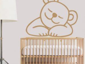 Γλυκό αρκουδάκι Παιδικά Αυτοκόλλητα τοίχου 50 x 43 εκ.
