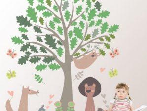 Δάσος Παιδικά Αυτοκόλλητα τοίχου 128 x 150 εκ.