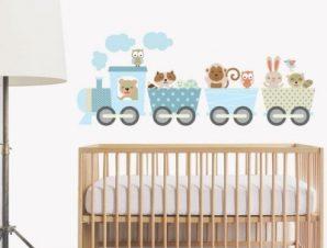Βόλτα με τραίνο Παιδικά Αυτοκόλλητα τοίχου 30 x 76 cm