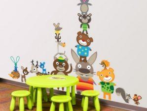 Ζωάκια σε διακοπές Παιδικά Αυτοκόλλητα τοίχου Small 120×81 cm