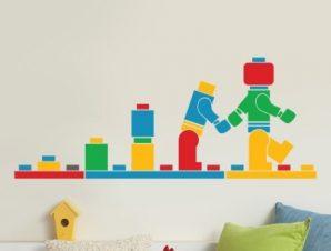 Lego Παιδικά Αυτοκόλλητα τοίχου 120 x 48 εκ.
